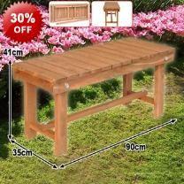 90cm Hardwood Outdoor Garden Bench Seat - Hardwood Construction - Sturdy - Stylish