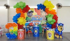 Paw Patrol Party Decorations, Birthday Party Themes, Boy Or Girl, Mickey Mouse, Projects To Try, Baby Shower, Kids, Fiestas, Paper
