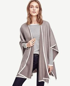Image of Tipped Poncho Cape
