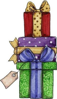 Presents - Clip Art Christmas Doodles, Christmas Drawing, Christmas Paintings, Noel Christmas, Christmas Paper, Christmas Pictures, Christmas Crafts, Christmas Decorations, Christmas Graphics