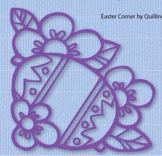 Easter Egg corner overlay