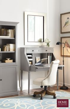 Take spring cleaning to the next level by organizing your home office space. A secretary desk like ours by Martha Stewart Living™ has a good workspace and plenty of hidden storage. Use the shelves, dividers and drawers to organize important documents and then close the door when not in use. Your home office will look neat and clean in an instant. Shop now at Home Decorators Collection.