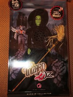 NEW 50th ANNIVERSARY WICKED WITCH OF THE WEST BARBIE WITH MUSIC-PINK LABEL