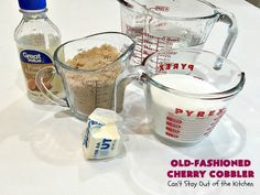 Old-Fashioned Cherry Cobbler – Can't Stay Out of the Kitchen Old Fashioned Cherries, Toddy Recipe, Cherry Muffins, Brown Sugar Syrup, Cherry Syrup, Herb Bread, Grape Salad, Cherry Cobbler, Those Recipe