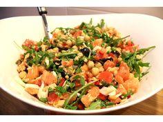 Coentros & Rabanetes: Salada quente de salmão e grão | Salmon and chickpea warm salad