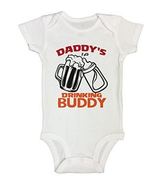 Cute Boy Funny Onesie  Daddys Drinking Buddy 2   Little Royaltee Shirts 36 Months White -- Click image for more details.