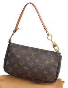 Louis Vuitton Pochette Accessoir Monogram Shoulder Bag with Extender
