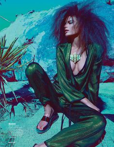 Cameron Russell by Kai Z Feng for Elle UK February 2014 4