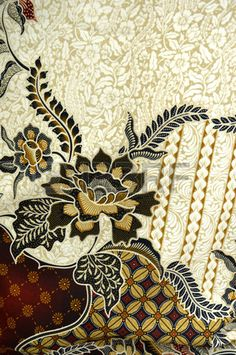 Picture of detailed patterns of Indonesia batik cloth stock photo, images and stock photography. Mosaic Patterns, Textile Patterns, Vector Pattern, Pattern Design, Batik Fashion, Fashion Art, Fashion Design, Batik Art, Pattern Wallpaper