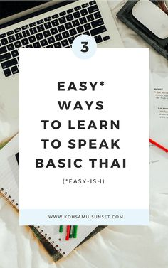 Learning Thai: Discover three easy ways to learn basic words and phrases in Thai language. Get three easy tricks for learning Thai and find out how to learn a few words and phrases of the Thai language, as a total beginner. Learn Thai Language, Language Study, Korean Language, Thailand Travel, Bangkok Thailand, Backpacking Thailand, Thai Phrases, Phuket, Thailand Language