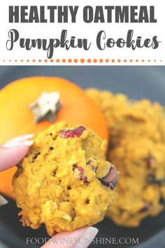 Healthy Oatmeal Pumpkin Cookies | These healthy oatmeal pumpkin cookies are easy to make and perfect to enjoy this Fall and all year long! These pumpkin cookies are delicious for breakfast or for a sweet treat. | pumpkin cookies | pumpkin cookies easy | #easyrecipes #recipe #pumpkin #cookies Desserts Keto, Healthy Dessert Recipes, Delicious Desserts, Breakfast Recipes, Easy Homemade Recipes, Vegan Recipes Easy, Wine Recipes, 100 Calories, Pumpkin Pie Recipes