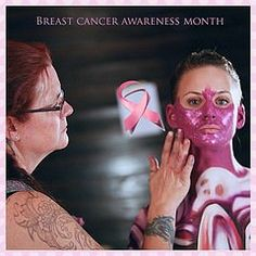 October is Breast Cancer Awareness Month image from Living Art America body painting competition