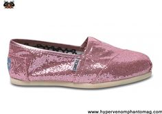 Latest Listing Discount Pink Womens Glitters Toms Shoes