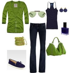 Perfect Blue Friday outfit for a casual Friday workday.  created by acollins518.polyvore.com