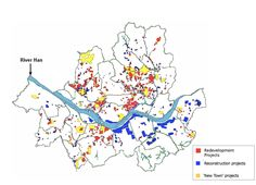 Figure 4. Locations of areas designated for redevelopment in Seoul. Source: Map adopted from Bureau of Housing (2008) and adjusted