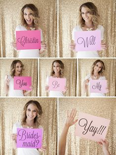 DIY // Will You Be My Bridesmaid? ...take fun pictures of yourself holding up signs... and then... print them in these super adorable tinybooks!!!!