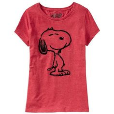 Old Navy Womens Snoopy Heathered Tees - Heather red (€12) ❤ liked on Polyvore featuring tops, t-shirts, shirts, remeras, t shirts, women, cap sleeve shirt, graphic tees, old navy t shirts and heather t shirt