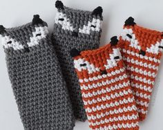 Ravelry: Asher Fox Leg Warmers & Boot Cuffs pattern by Lakeside Loops Best Picture For babysocken st Crochet Leg Warmers, Crochet Boot Cuffs, Baby Leg Warmers, Crochet Boots, Crochet Clothes, Hand Warmers, Crochet Slippers, Crochet Fox, Crochet Gloves Pattern