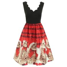 Dropshipping Women's Clothing, wir versenden für Sie | Chinabrands.com Robe Swing, Swing Dress, Xmas Party Dresses, Summer Dresses, Christmas Dresses, Plus Size Womens Clothing, Clothes For Women, Cat Dresses, Retro Dress