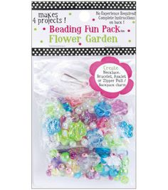 Beading Fun Packs-Flower Garden, Makes 4 projects!