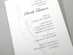 Bridal Shower Invitation Lily of the Valley by essentialimages, $16.50