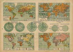 1942 world map (vegetation, winds)