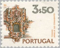 Znaczek: Convent of Christ, Tomar (Portugalia) (Landscapes and Monuments) Mi:PT 1135 Stamp Collecting, Architecture Details, Postage Stamps, Vintage World Maps, Christ, Postcards, Countries, Coins, Landscapes