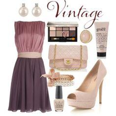 Vintage Purple + Pink + Cream