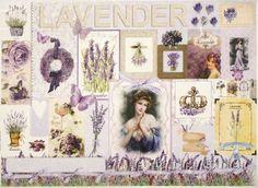Rice Paper for Decoupage Decopatch Scrapbook Craft Sheet Romantic Lavenders