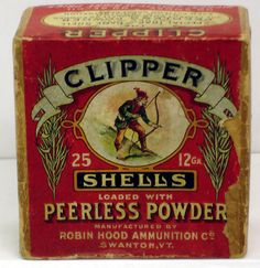 Robin Hood Ammunition Clipper 12Ga. Empty Box Auction