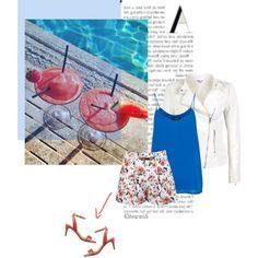 Spring or Summer? Mini Ma, Nine West, Coral, Spring Summer, Cool Stuff, Polyvore, Prints, Blue