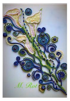 renda irlandesa. - Álbum Total - Motivos para IR. | OK.RU Crochet Books, Crochet Art, Thread Crochet, Crochet Motif, Crochet Flowers, Crochet Leaves, Irish Crochet Patterns, Crochet Designs, Freeform Crochet