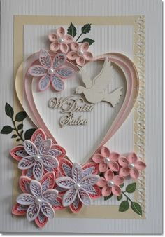 Neli Quilling, Quilling Images, Quilling Videos, Paper Quilling Cards, Paper Quilling Patterns, Quilling Craft, Quilling Techniques, Paper Crafts Wedding, Craft Wedding