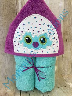 "Hatchling Applique Hooded Bath Towel, Beach Towel 30"" x 54"" by MommysCraftCreations on Etsy"