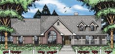 Elevation of Country   House Plan 79154