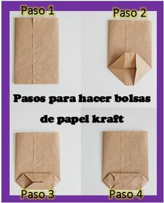 Hacer bolsas con papel kraft Hacer bolsas con papel kraft Forma sencilla de hacer bolsas con papel kraft The post Hacer bolsas con papel kraft appeared first on Berable. Diy Gift Box, Diy Gifts, Diy Box, Paper Gifts, Diy Paper, Paper Art, Creative Gift Wrapping, Thanksgiving Crafts, Diy And Crafts