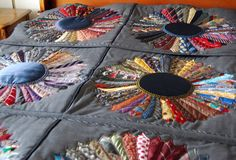 Beautiful......quilt using the tail ends of men's neckties