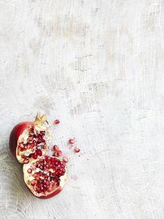 Sliced Pomegranate | fruit . Frucht . fruit | Food. Art + Style. Photography: Jonathan Gregson | JAMIE |