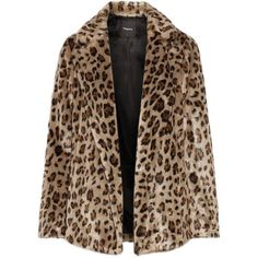 Theory Clairene leopard-print faux fur jacket (2,835 PEN) ❤ liked on Polyvore featuring outerwear, jackets, coats, coats & jackets, fur, brown jacket, leopard print jackets, fake fur jacket, faux fur jacket and theory jacket