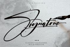 Ad: Signatrue Elegant Signature Taste by typeline studio on hello good people. I introduced our newest product Signatrue font ,i hope this font perfect for creating signature logos and watermarks Calligraphy Fonts, Typography Fonts, Type Logo, Bold Script Font, Alphabet, Cool Signatures, Latest Fonts, Signature Fonts, Signature Design