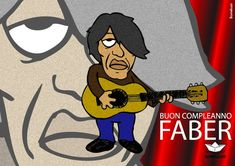 Fabrizio visto da Bomeluzo, Festival «Buon Compleanno Faber 2014» Caricature, Fallout Vault, Boys, Fictional Characters, Baby Boys, Caricatures, Senior Boys, Fantasy Characters, Sons
