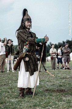 Hungarian warrior at Kurultaj 2014.
