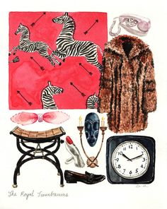 Royal Tenenbaums Collage  ORIGINAL Watercolor 8 by LauraRowStudio, $125.00