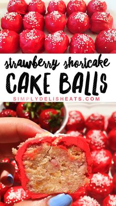 Strawberry Shortcake Cake Balls - need I say more?! These make the perfect party dessert, are totally customizable, and simply delicious!