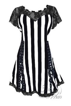 Dare To Wear Victorian Gothic Boho Women's Roxanne Corset Top Beetlejuice