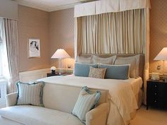 S·B Long Interiors. Love the settee at the end of the bed!