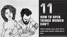 """The makers of Luksusowa Vodka have a new ad campaign in which they call the product """"vodka for men"""" and offer numerous tips on """"HOW TO BE A MAN"""" Here are some of those tips... Tip #11 """"How to open things women can't"""""""
