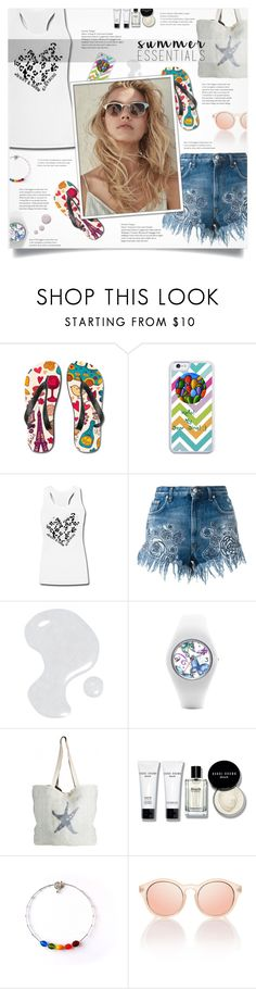 """Snapmade 10"" by smajlovicelvira ❤ liked on Polyvore featuring Versus, Illamasqua, ASPIGA, Bobbi Brown Cosmetics, Le Specs, Topshop, StreetStyle, Summer, snapmade and SNAPMADEcontest"