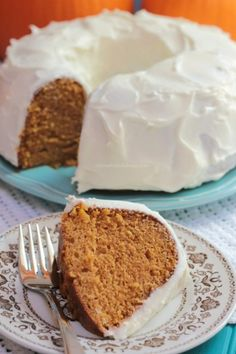Pumpkin Spice Cake with Cream Cheese Icing