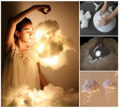 The most amazing lamp.DIY Cloud Light | HANDY DIY
